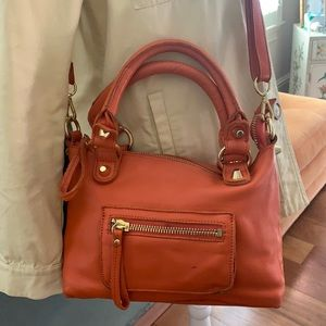 Linea Pelle orange,leather bag